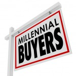 Millennial Buyers words on a home for sale or house real estate